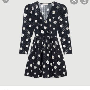 MAJE Dress in daisy guipure,size US 6/ EU 3/ FR 40